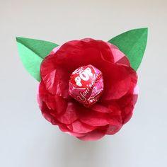 Como hacer flores con chupetines