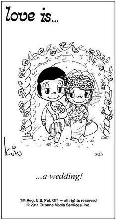 love is... a wedding...