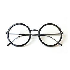f5d3f68b6c4b1e 1920s Vintage Round oliver retro eyeglasses frames 488R58 black kpop peoples