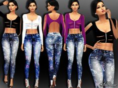 Created By SaliwaDreamy OutfitCreated for: The Sims 4Coming with 5 colours.http://www.thesimsresource.com/downloads/1318059