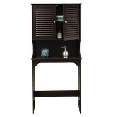 RiverRidge Home Ellsworth 27 9/25 In. W X 63 7/10 In. H X 9 1/4 In. D  2 Door Over The Toilet Storage Cabinet In Espresso