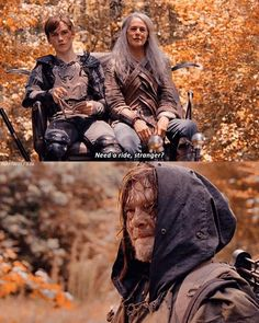 """I loved this scene so much 😍😍 """"Need a ride, stranger?"""" 😍😍❤❤ - I loved this scene so much 😍😍 """"Need a ride, stranger? Walking Dead Season 9, Walking Dead Tv Series, Walking Dead Zombies, Walking Dead Memes, Fear The Walking Dead, Daryl And Carol, Jogging, Dead Pictures, The Avengers"""