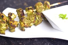 Green Chicken Kababs | Feed Your Temptations