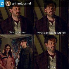 what a pleasant surprise.... Grimm Cast, Nbc Grimm, Grimm Tv Series, Grimm Tv Show, Detective, Oregon, Nick Burkhardt, Grimm Tales, Tv Shows Funny