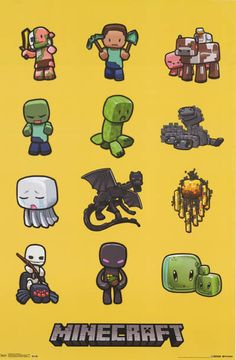 A great poster of characters from the hit Mojang video game Minecraft! Fully licensed. Ships fast. 22x34 inches. Check out the rest of our awesome selection of Minecraft posters! Need Poster Mounts..?