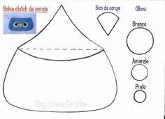 Molde bolsa clutch de coruja - Owl clutch -