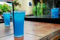 Lake Water : 2 Quart pitcher of Crystal Light Lemonade 1 cup Skyy vodka 1 cup Malibu rum Add Blue Curaco for coloring! *Stir that baby together by nell