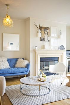 I'm obsessed with their cute apartment! Myka and George's Modern Abode