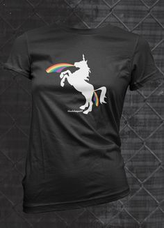 c1c5905759dc MATURE Double rainbow unicorn by BlackSheepSk8 funny tshirts with a derby  mind.  25.00