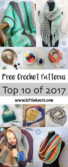 My first full year of crochet blogging is officially in the books.  To celebrate, I have put together a round up of my top free crochet patterns of 2017 all in one post to share with you. Did your favorites make the list?  From modern and simple scarves and hats, to baby blankets and water balloons I'm sure you will find something you'd love to make!  Keep reading to find out ;) #freecrochetpattern #crochet