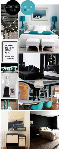 Interior deco Blue black