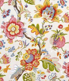 Braemore Wonderland Pearl Fabric, $29.75. Love the colors and the fun leaf shape.