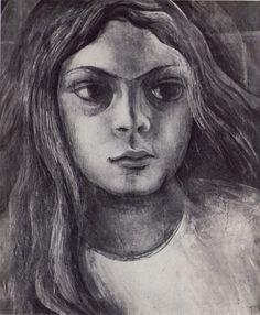 DAVID ALFARO SIQUEIROS / HEAD OF YOUNG GIRL, 1935.