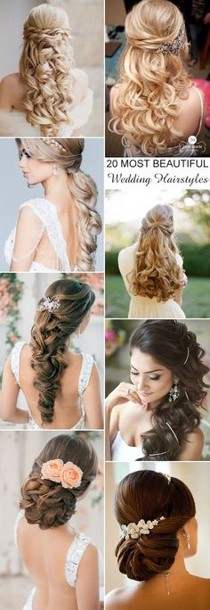 20 most beautiful and elegant wedding hairstyles for long hairs.