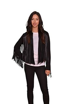 VELVET BY GRAHAM  SPENCER Womens Fringe Jacket Black XLarge >>> You can get more details by clicking on the image.(This is an Amazon affiliate link and I receive a commission for the sales)