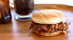 3 indgredient slow cooker pulled pork.  Mike made this last night and it was DELISH!  Served it on toasted buns with a horseraddish sauce.