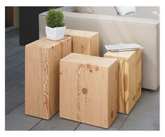 Reclaimed Fir Outdoor End Tables - Accent Tables - Outdoor - Room & Board
