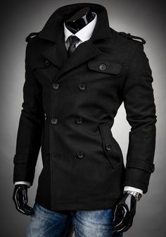 awkward pose… But I need a fitted pea coat like this!!! Hella bad!!! #gimmee | Look around!
