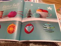 Knitted christmas baubles | Mollie Makes Issue 46