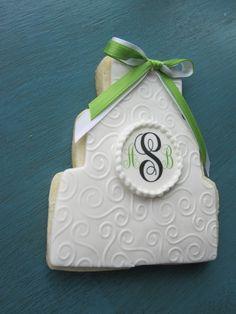 Monogram Wedding Cake Cookie by sweetspotnj on Etsy, $48.00