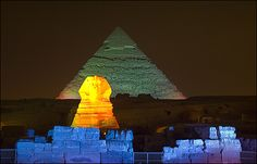 """For one hour you'll be enjoying the brilliant Sound & Light Show that takes back in time for thousands of years, where the ancient Egyptians """"Pharos"""" ruled Egypt, and how they built the great pyramids, which is considered an architectural miracle in their eras."""