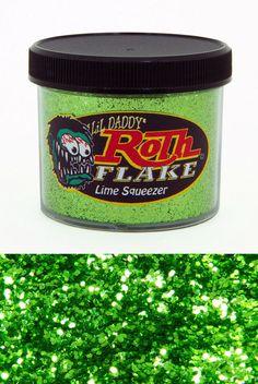 lime squeezer roth metal flake new 2oz jar hot rod custom paint lil daddy art #lildaddyroth