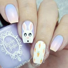 46 Easter Nail Art Designs and Ideas For 2019 These trendy Nails ideas would gain you amazing compliments. Check out our gallery for more ideas these are trendy this year. Easter Nail Designs, Easter Nail Art, Cute Nail Art Designs, Nail Designs Spring, Simple Nail Designs, Bunny Nails, Nagellack Trends, Instagram Nails, Luxury Nails