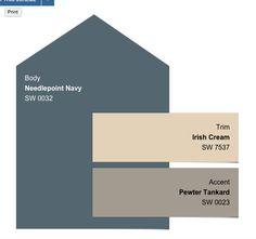 Exterior Paint Schemes, Paint Color Schemes, Exterior Paint Colors For House, Interior Paint Colors, Paint Colors For Home, Exterior Colors, Exterior Design, Outside Paint, Outside Home Colors