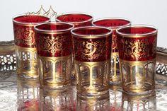 Meknes Red Tea Glasses
