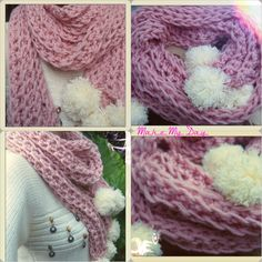 A cute pink scarf with pom pom's at the end!!! New from the brand Make My Day!