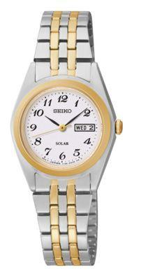 Seiko Ladies two-tone stainless steel bracelet watch- at Debenhams.com