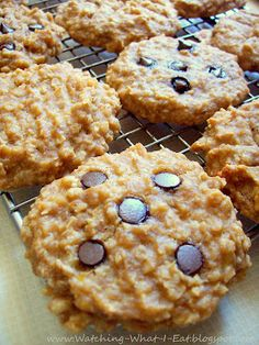 Watching What I Eat: Peanut Butter Banana Oat Breakfast Cookies with Carob / Chocolate Chips