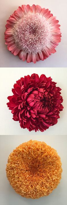 New Giant Paper Flower Sculptures by Tiffanie Turner