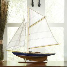 Model Sailboat Decor | Featuring impressive details, this Model Sailboat Decor gives you the look of a nautical enthusiast without the hours of dedication.