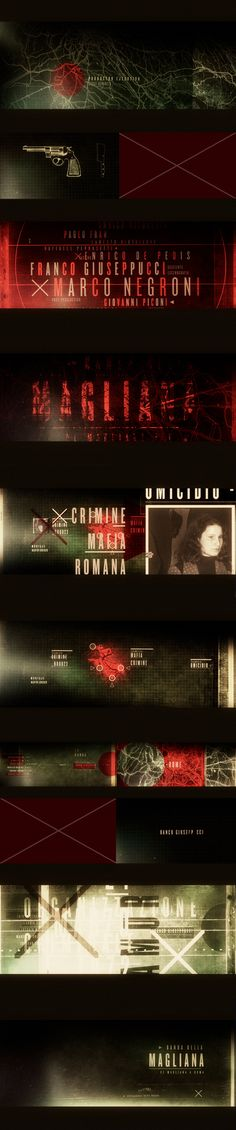 Direction, Art, Design and Animation for The Opening Titles of the new serie about the most dangerous and famous Mafia that ever existed in Rome.