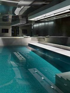 Indoor Pool at Rutland Gardens Residence in Knightsbridge, London by Originate Architects