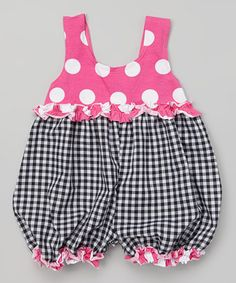 Inspiration - Loving this Black Gingham Baby Bubble Romper - Infant on #zulily! #zulilyfinds