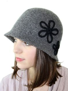 Cloche   Brooch Crochet PATTERN with Felting Instructions - PDF 2123 ... 94390f76b59