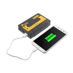 Tape Shaped 5500mAh Power Bank With Three Outputs For Smartphones - Black