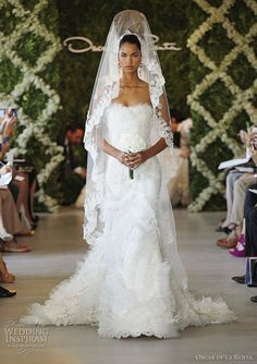 Oscar de la Renta spring 2013 wedding dress; love the Spanish influence!
