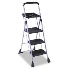 Max Work 5 ft Steel Platform Step Ladder with 225 lb. Load Capacity