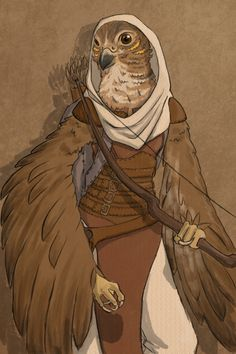 Aarakocra, Portrait, Bard, Cleric, Fighter, Ranger, Rogue, Warlock