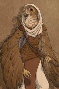 Aarakocra, Portrait, Bard, Cleric, Fighter, Ranger, Rogue, Warlock