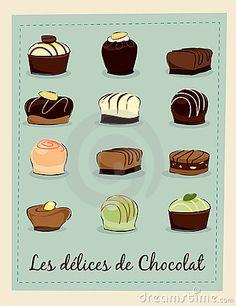 Chocolate pralines by Studiotsunami, via Dreamstime