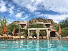 Let your troubles melt away in the desert sun while staying cool at this @FSScottsdale poolside retreat. Thank you @hazlw for sharing your #FourSeasons moment with us! # #  Hotels-live.com via https://www.instagram.com/p/BErhNB1Kk9m/ #Flickr