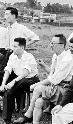 Daisaku Ikeda e Josei Toda - 1955
