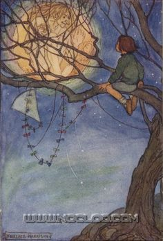Florence Harrison, «Elfin Song: A Book of Verse and Pictures», London, Glasgow & Bombay, Blackie & Son, 1912.  fharrison-elfin11