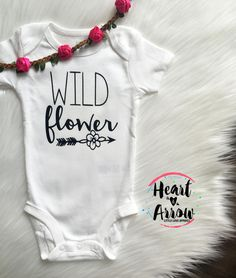 Wildflower | Baby Onesie® / Baby Bodysuit / Infant & Toddler T-Shirt / Boho / Baby Shower Gift / Birthday Gift by HeartandArrowBtq on Etsy