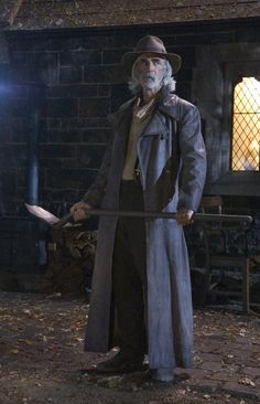 Sam Elliott in Ghost Rider. Sam is the voice telling the story and he also plays the part of the caretaker. Awesome actor and voice.