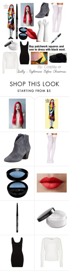 """Sally Nightmare Before Christmas Cosplay"" by cosplay-er ❤ liked on Polyvore featuring Ash, Foot Traffic, Sharpie, Giorgio Armani, LORAC, Laura Mercier, Zalando, Jacqueline De Yong, sally and Thenightmarebeforechristmas"
